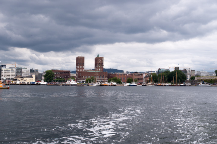 Oslo - Norway - view of the city from the ferry