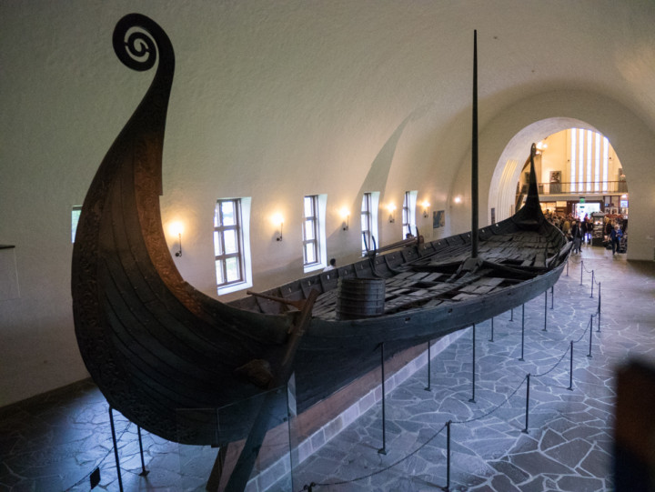 The Viking Ship Museum - Oslo - Norway - the Oseberg ship