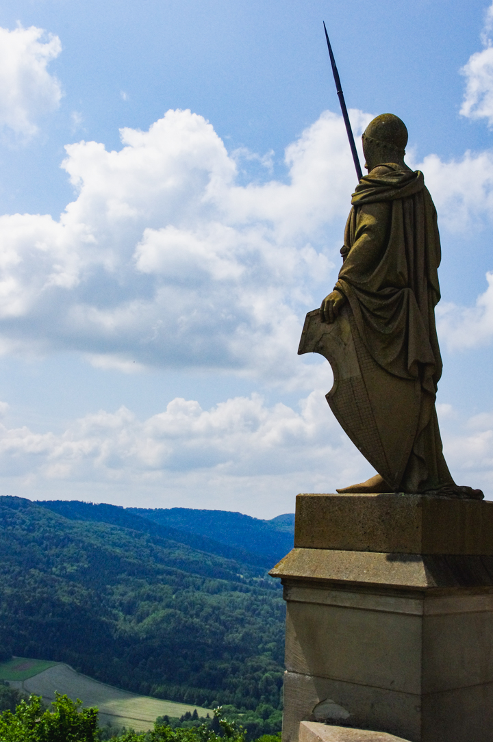 Guarding the Hohenzollern Castle in Germany - Check out roadtripsaroundtheworld.com to find out more