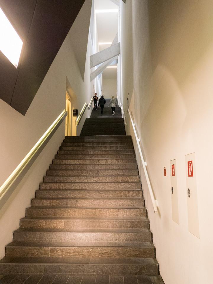 Jewish Museum Berlin - the stairs to the exhibition - RoadTripsaroundtheWorld.com