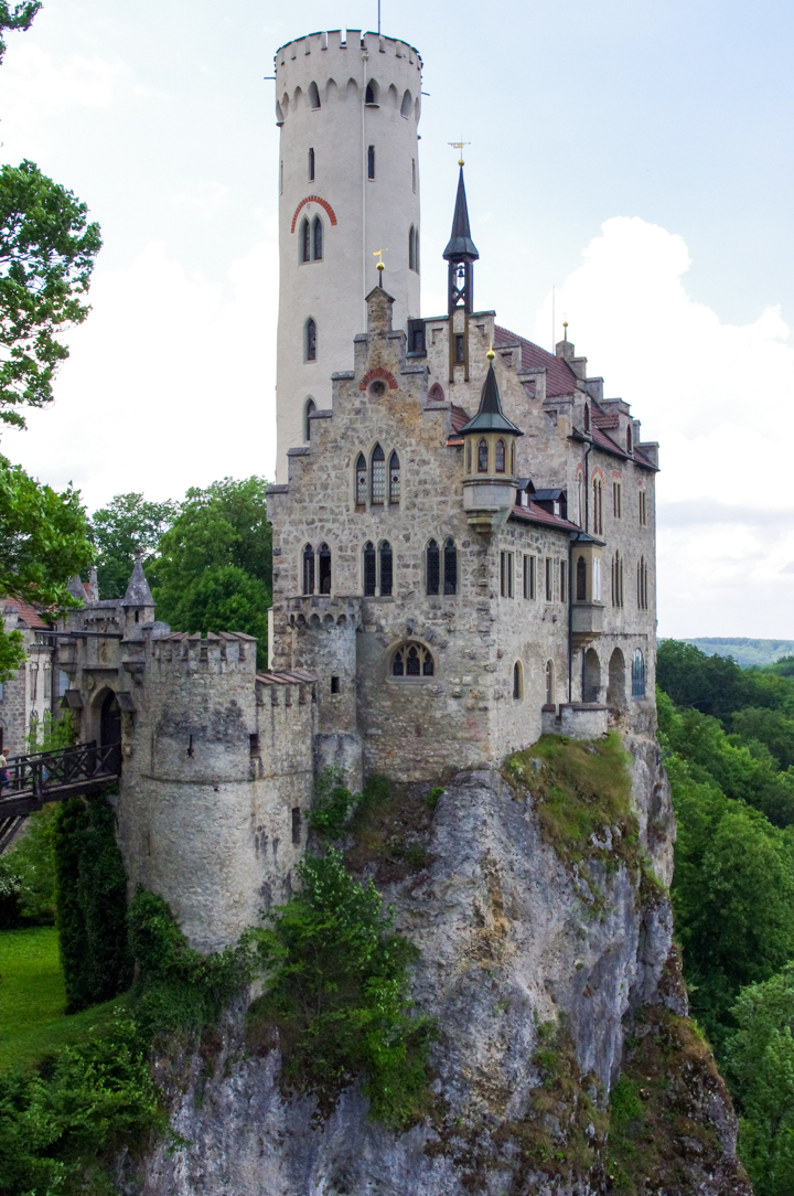 The Lichtenstein Castle - a fairytale castle in Germany - visited during a road trips in South Germany - learn more on roadtripsaroundtheworld.com