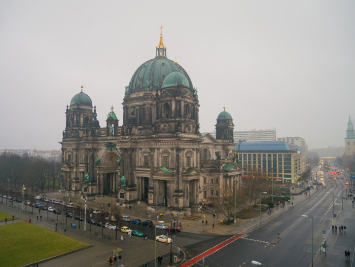 View of the Berliner Dom from the The Humboldt Box - City Palace - Berlin - Germany