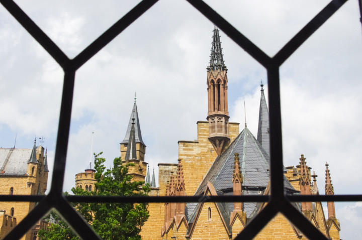 View of the Hohenzollern Castle roofs from the tower - Check out roadtripsaroundtheworld.com to find out more
