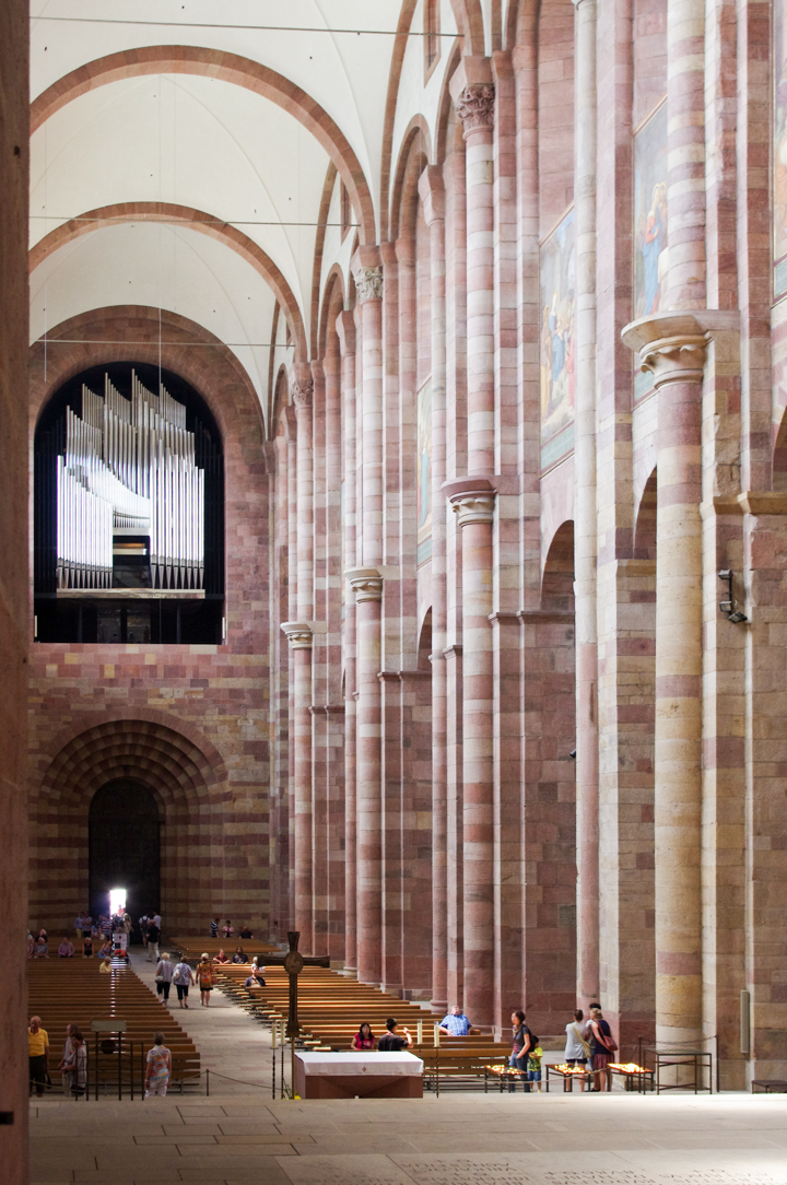 View of the Nave from the Choir in the Speyer Cathedral - Visit roadtripsaroundtheworld.com to learn more