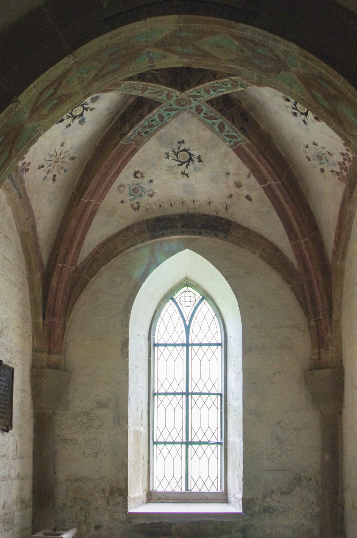 Decorated ceiling at the Maulbronn Monastery, Germany - Find out more on roadtripsaroundtheworld.com