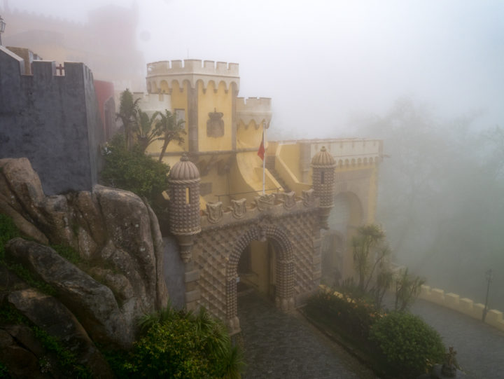 The entrance of the Pena Palace - Sintra, Portugal - Learn more on roadtripsaroundtheworld.com