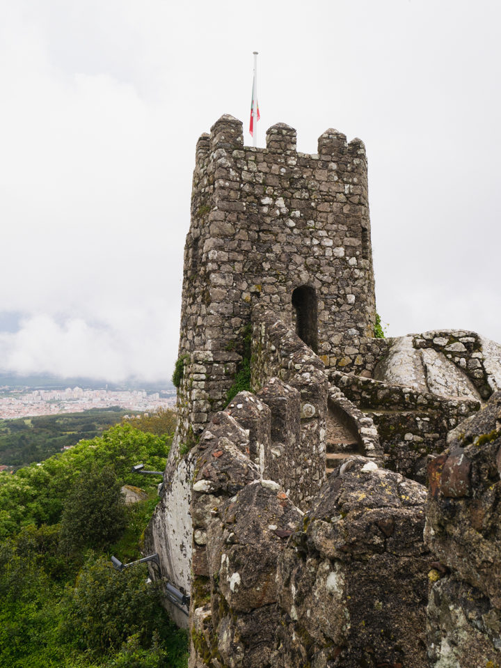 The square tower at the Castle Keep - the Moors Castle, Sintra - Portugal - Learn more on roadtripsaroundtheworld.com