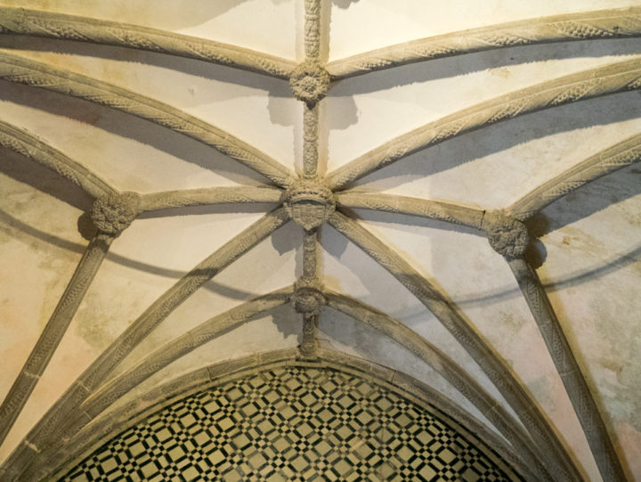 The vaulted ceiling of the Chapel - Pena Palace - Sintra, Portugal - Learn more on roadtripsaroundtheworld.com