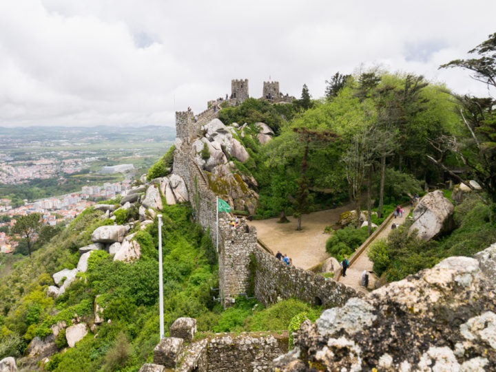 View from the Royal Tower of the Moors Castle, Sintra - Portugal - Learn more on roadtripsaroundtheworld.com