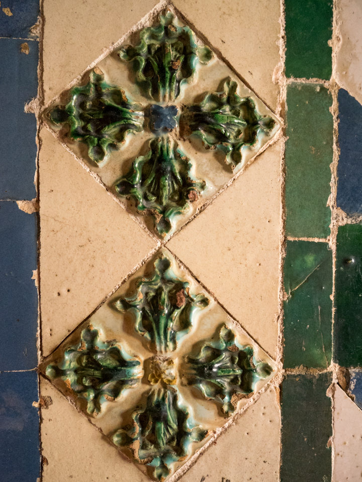 Beautiful tiles at the Sintra Palace - Portugal - Learn more on RoadTripsaroundtheWorld.com