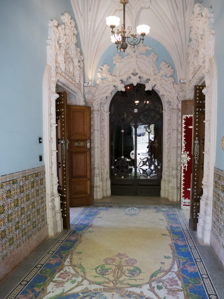 Entrance Hall of the Quinta da Regaleira Palace - Portugal - Learn more on RoadTripsaroundtheWorld.com