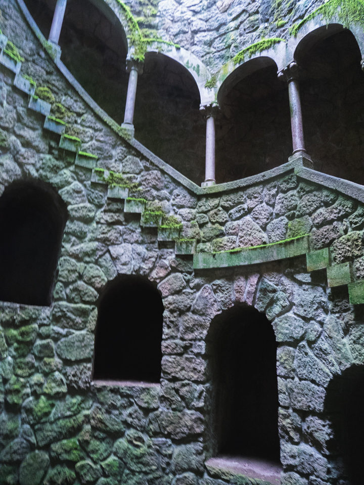 Inside the Initiatic well - Quinta da Regaleira Palace - Portugal - Learn more on RoadTripsaroundtheWorld.com