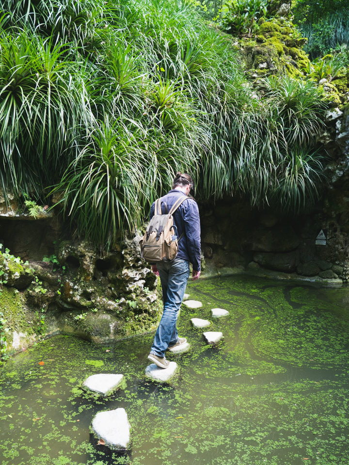 The Japanese Path to the tunnels - Quinta da Regaleira Palace - Portugal - Learn more on RoadTripsaroundtheWorld.com