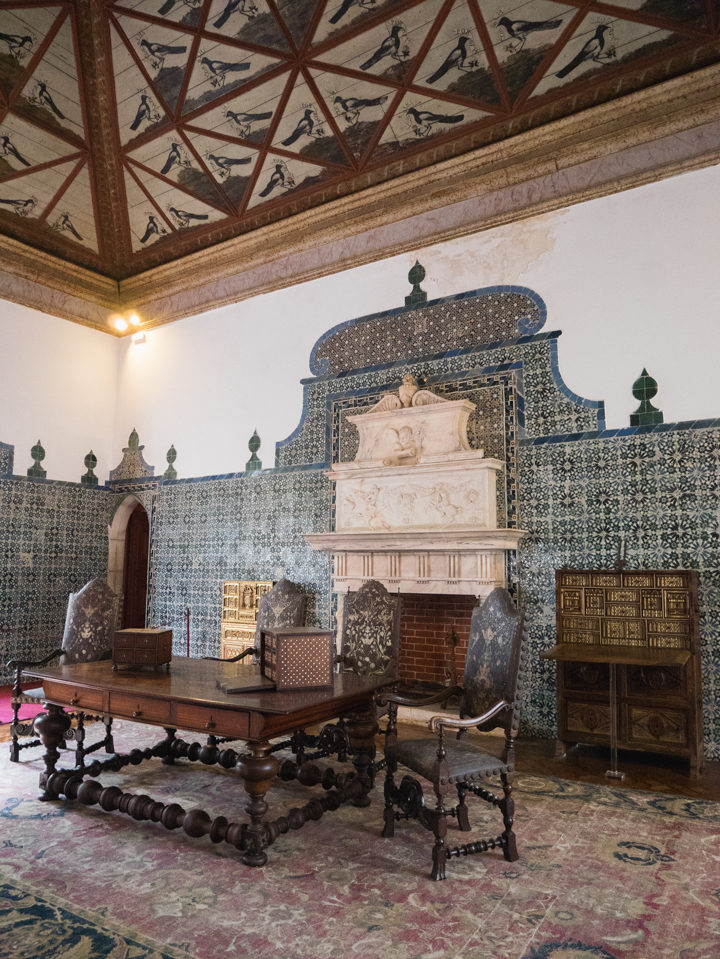 The Magpie Room - Sintra Palace - Portugal - Learn more on RoadTripsaroundtheWorld.com