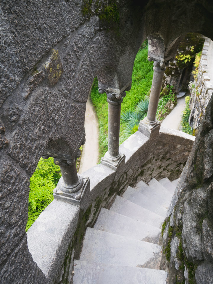 The stairs of the Regaleira tower - Quinta da Regaleira Palace - Portugal - Learn more on RoadTripsaroundtheWorld.com