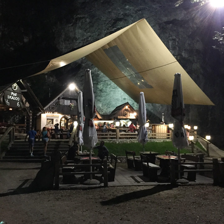 Diner at Lake Bohinj, Slovenia - learn more on RoadTripsaroundtheWorld.com
