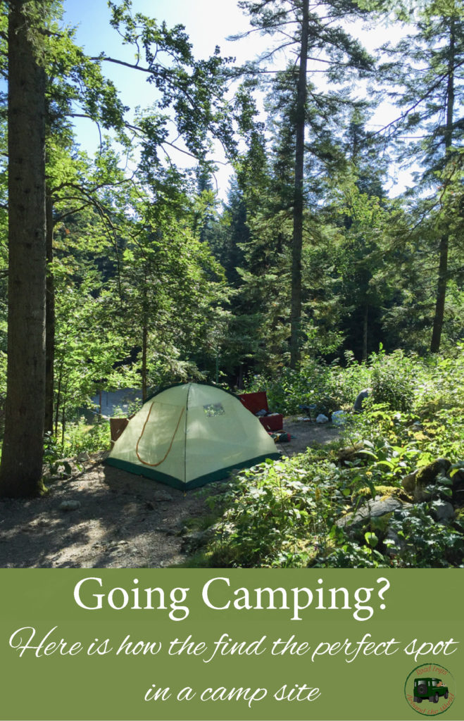 How to find the perfect spot in a camp site - Visit RoadTripsaroundtheWorld.com to find great tips