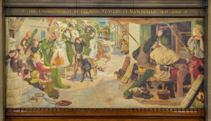 the-establishment-of-flemish-weavers-in-manchester-by-ford-madox-brown-manchester-town-hall-uk-learn-more-on-www-roadtripsaroundtheworld-com