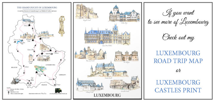 Discover Luxembourg - Road Trip map and art print by Miss Coco for www.RoadTripsaroundtheWorld.com