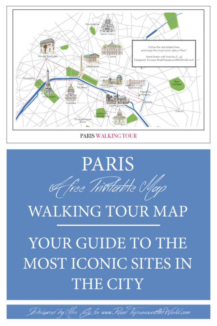 A Paris Walking Tour Map to help you explore Paris - Free to ...
