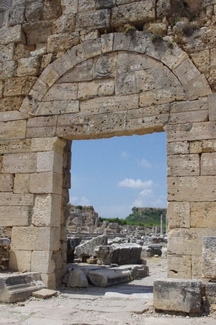 The Roman Gate - Perge, Turkey - www.RoadTripsaroundtheWorld.com