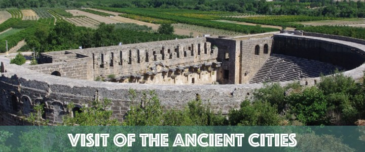 The antique cities of Perge and Aspendos in Turkey