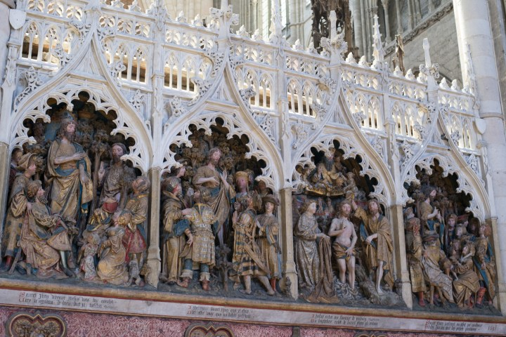 Low relief of the Choir Screen - North ambulatory - Saint John the Baptist - Amiens Cathedral, France - www.RoadTripsaroundtheWorld.com