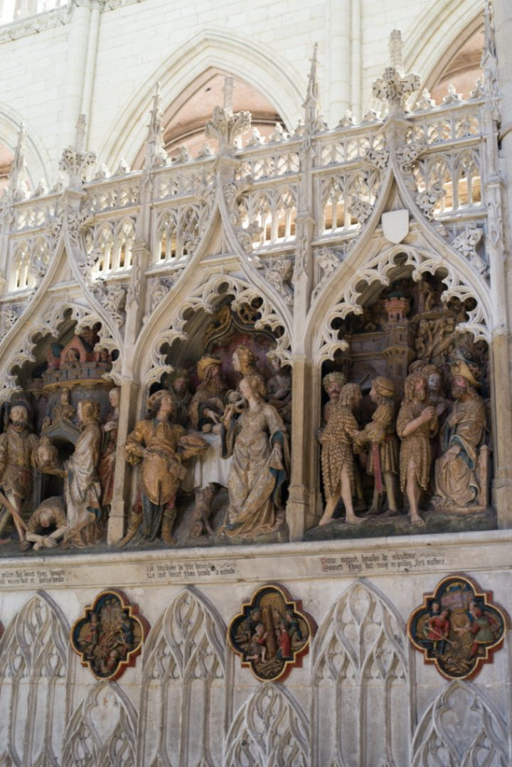 Low relief of the Choir Screen - North ambulatory second part - Saint John the Baptist - Amiens Cathedral, France - www.RoadTripsaroundtheWorld.com