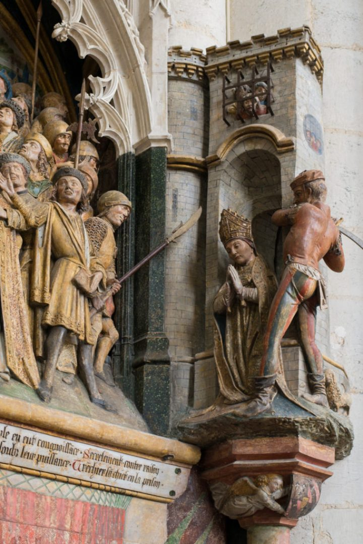 Low relief of the Choir Screen detail - Amiens Cathedral, France - www.RoadTripsaroundtheWorld.com