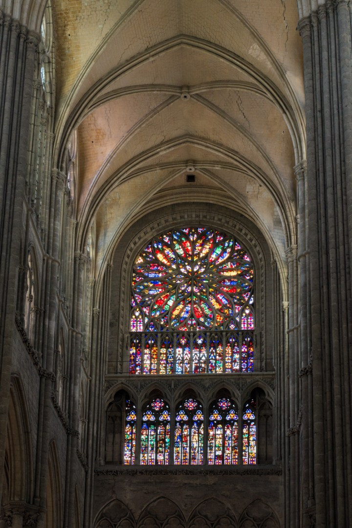 Rose window - North Transept - Amiens Cathedral, France - www.RoadTripsaroundtheWorld.com