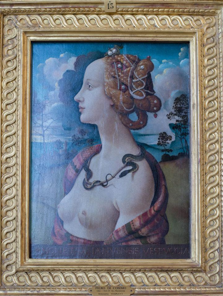 Simonetta Vespucci by Piero di Cosimo - 1490 - Chateau de Chantilly, France - www.RoadtripsaroundtheWorld.com
