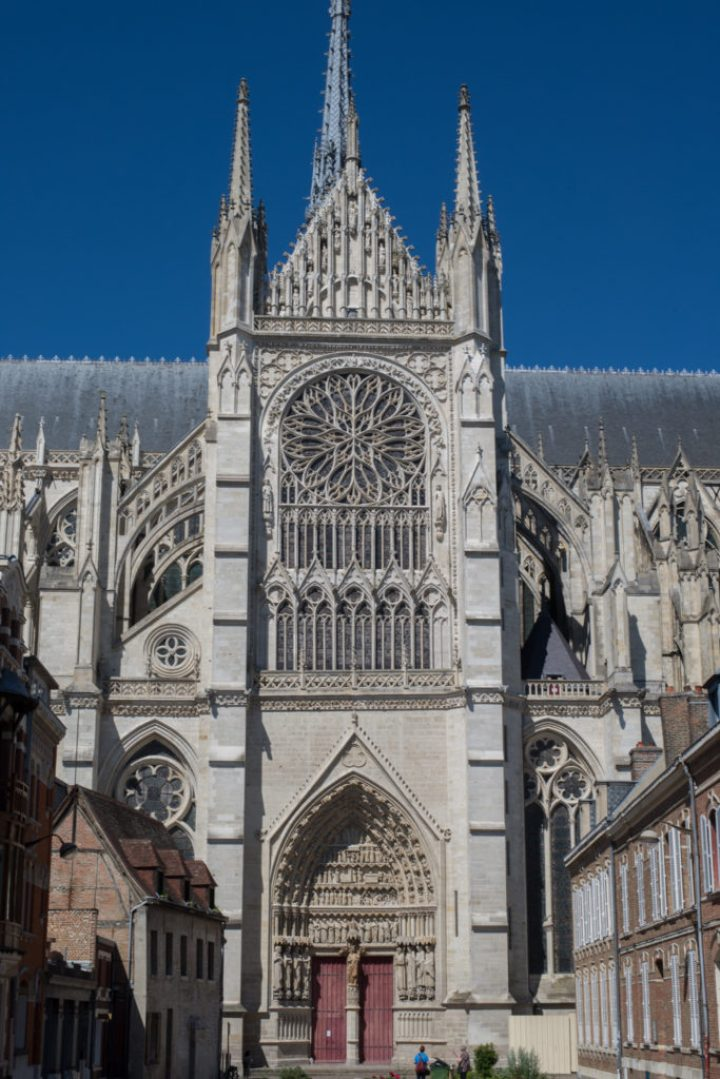South transept facade - Amiens Cathedral, France - www.RoadTripsaroundtheWorld.com