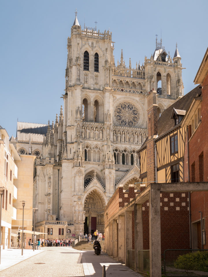 The Amiens Cathedral appearing - www.RoadTripsaroundtheWorld.com