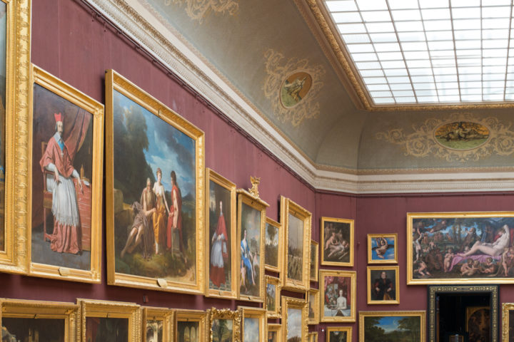 The painting gallery of the Chateau de Chantilly, France - www.RoadtripsaroundtheWorld.com