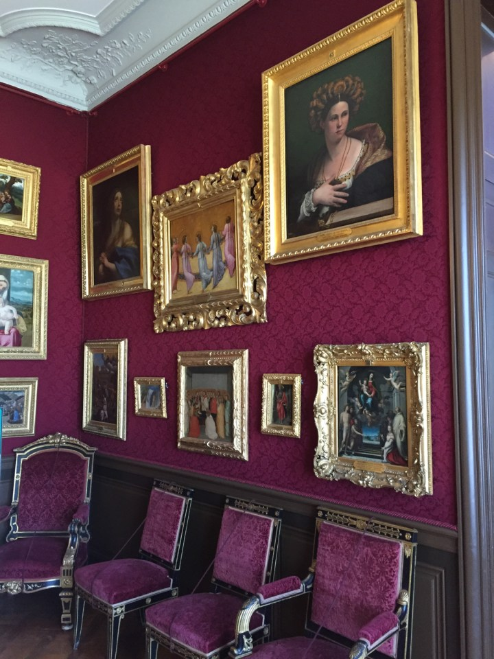 The purple salon - the Grand Apartments - Chateau de Chantilly, France - www.RoadtripsaroundtheWorld.com