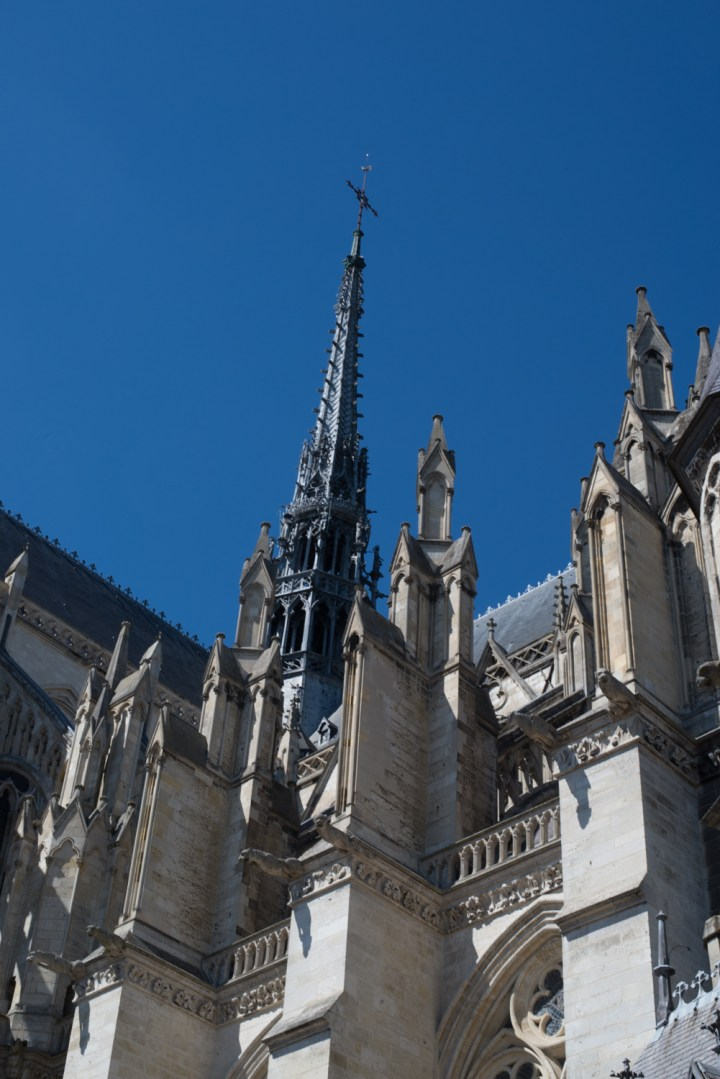 The spire of the Amiens Cathedral, France - www.RoadTripsaroundtheWorld.com