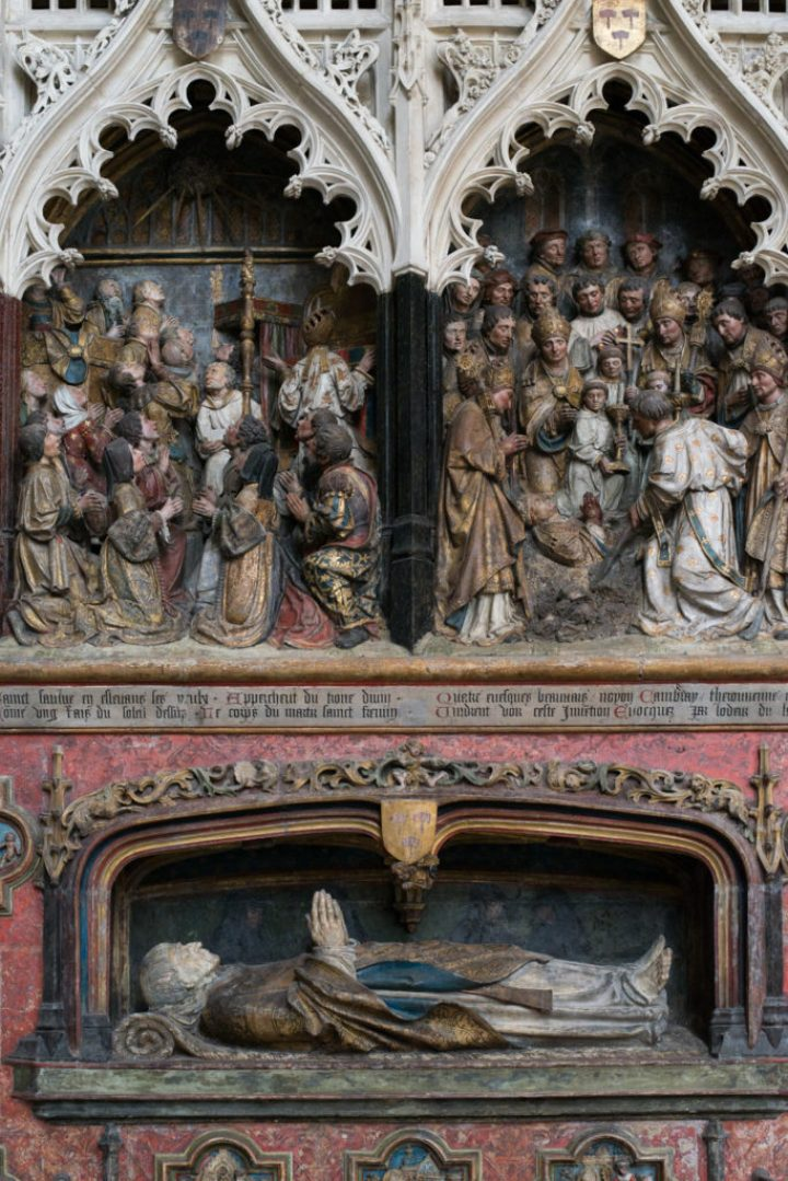 The story of St Firmin - Choir screen - Amiens Cathedral, France - www.RoadTripsaroundtheWorld.com