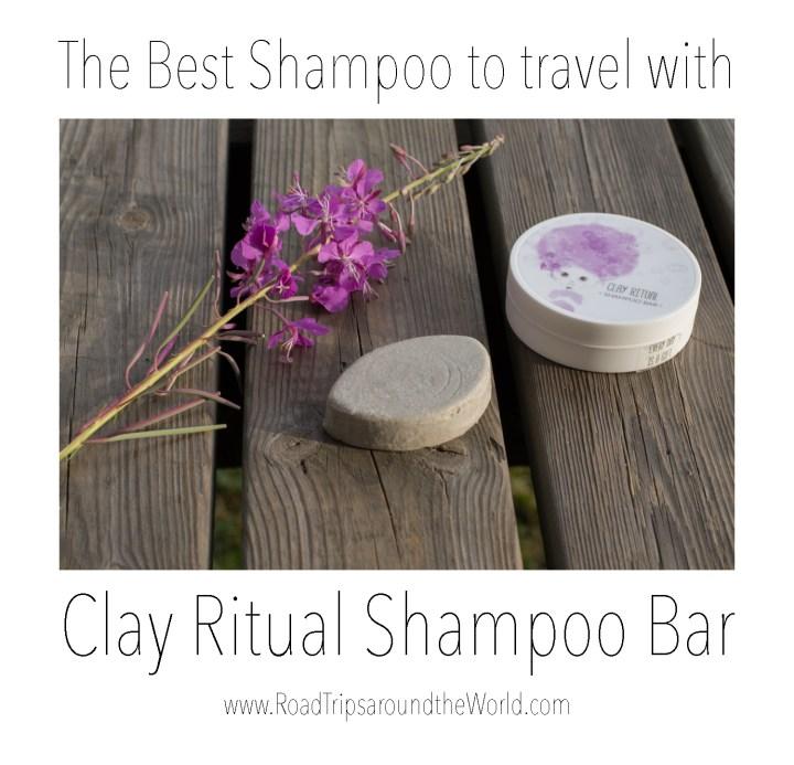 The best shampoo to travel with - Clay Ritual Shampoo Bar - Check out www.RoadTripsaroundtheWorld.com