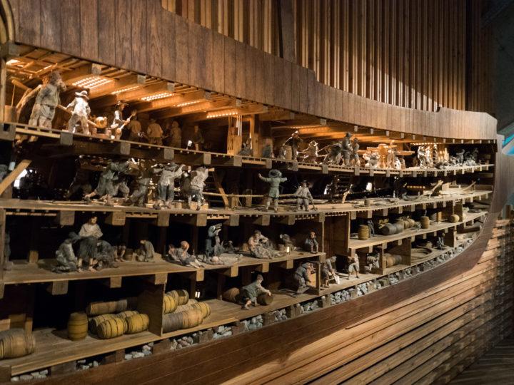 Model representation of inside the hull of the Vasa Ship - Vasa Museum - Stockholm, Sweden - www.RoadTripsaroundtheWorld.com