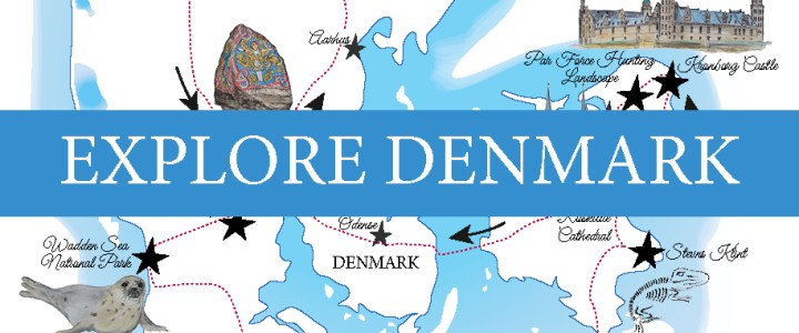 A Road Trip in Denmark: Free printable map