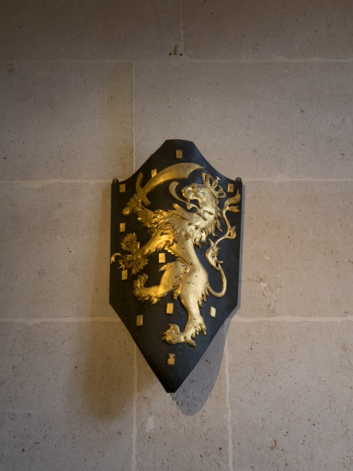 Coat of arms - Chateau de Pierrefonds, France - www.RoadTripsaroundtheWorld.com
