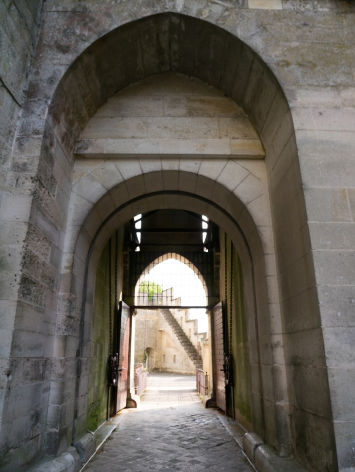 The draw bridge of the Chateau de Pierrefonds, France - www.RoadTripsaroundtheWorld.com
