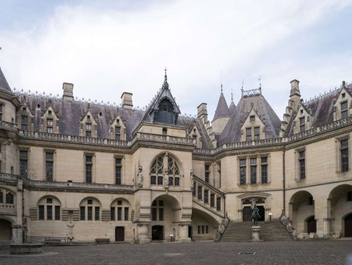 The main courtyard - Chateau de Pierrefonds, France - www.RoadTripsaroundtheWorld.com