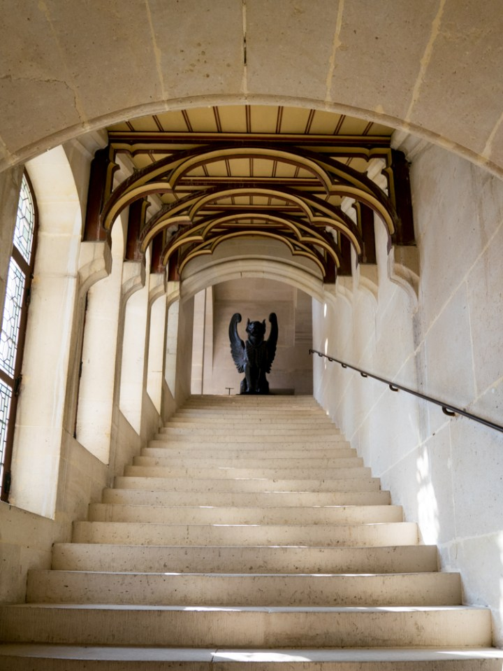 The main staircase of the guest wing - Chateau de Pierrefonds, France - www.RoadTripsaroundtheWorld.com