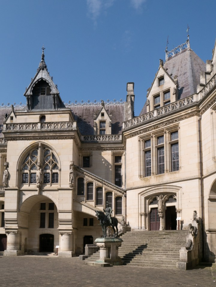 The staircase to the guest wing - Chateau de Pierrefonds, France - www.RoadTripsaroundtheWorld.com
