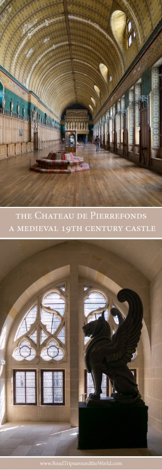 the Chateau de Pierrefonds, France - a medieval 19th century castle - www.RoadTripsaroundtheWorld.com