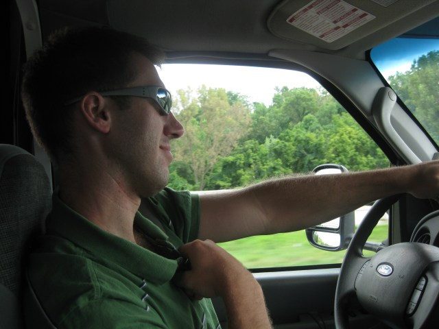 Dave Driving Our Rental RV with Cruise America