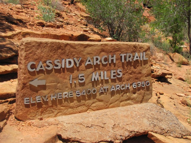 Hike to Cassidy Arch in Capitol Reef National Park