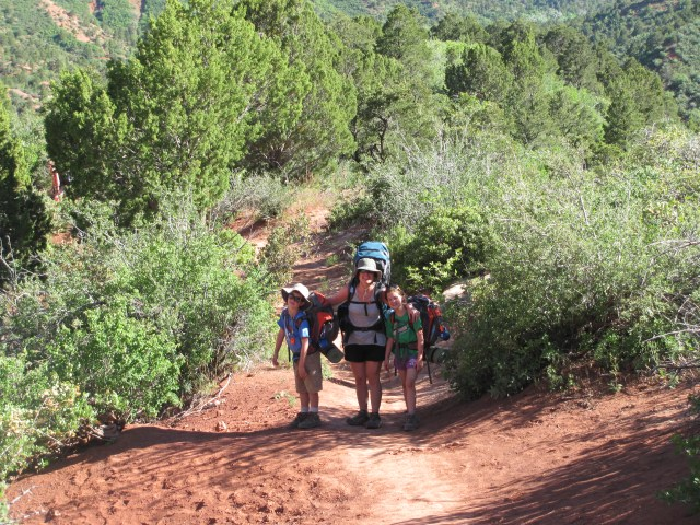 Hiking La Verkin Creek Trail in Kolob Canyon, Zion National Park