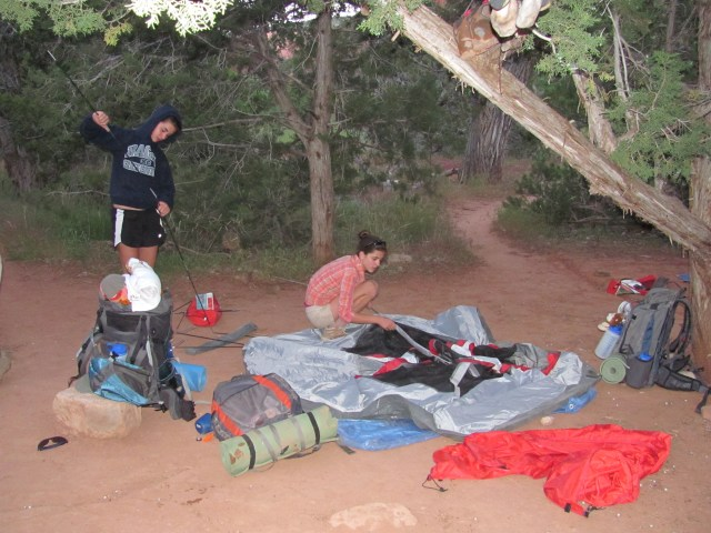 La Verkin Creek Trail in Kolob Canyon, Setting Up Camp in Kolob Canyon in Zion National Park